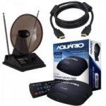 Kit Conversor Digital + Antena + Cabo HDMI Preto AQUÁRIO/HYX/LITE
