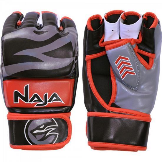 Luva de MMA NEW EXTREME Preto/Vermelho NAJA