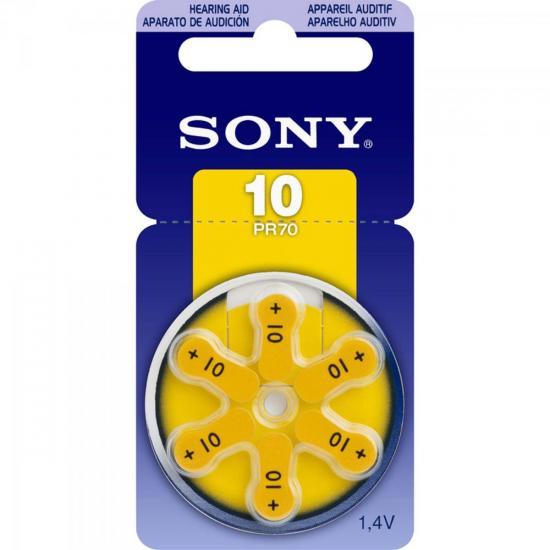 Pilha Auditiva 10 1,4V PR10 D6A Sony cartela c/6 pilhas