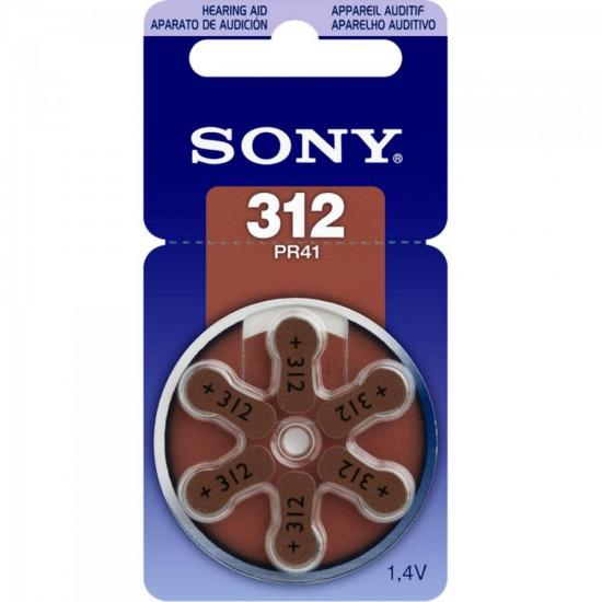 Pilha Auditiva 312 1,4V PR312 D6N Sony cartela c/6.
