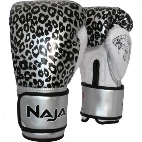 e5ff307833 Luva de Boxe ANIMAL PRINT 14 OZ Onça Prata NAJA (62267) - Hayonik ...