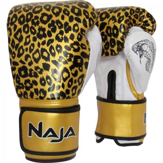 Luva de Boxe ANIMAL PRINT 14 OZ Onça Dourada NAJA