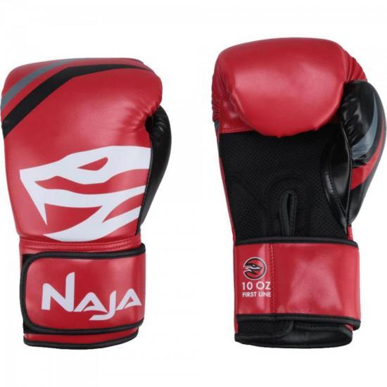 Luvas de Boxe Adulto FIRST 12-OZ Vermelho NAJA