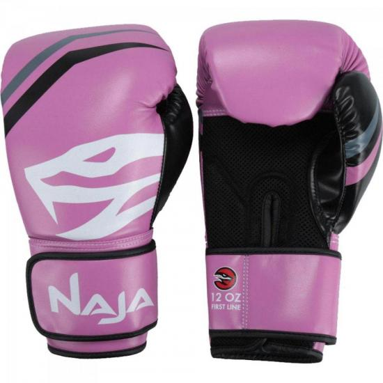 Luvas de Boxe Adulto FIRST 12-OZ Rosa NAJA