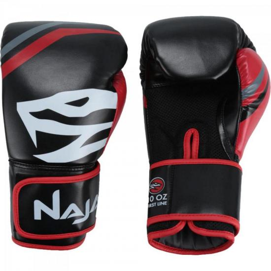Luvas de Boxe Adulto FIRST 14-OZ Preto NAJA