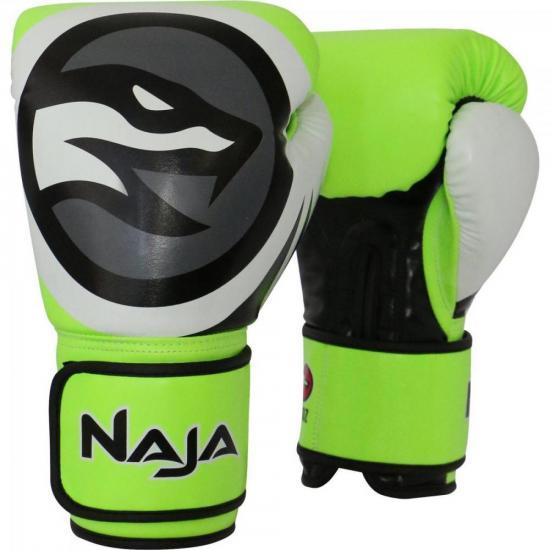 Luva de Boxe COLORS FLUOR 14-OZ Verde NAJA