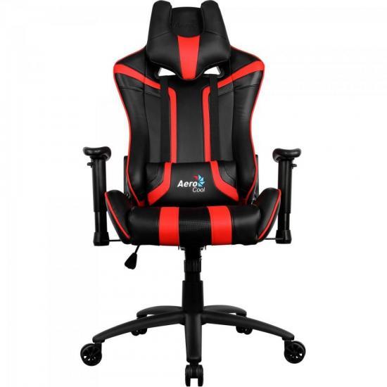 Cadeira Gamer Profissional AC120 EN59657 Preta/Vermelha AEROCOOL