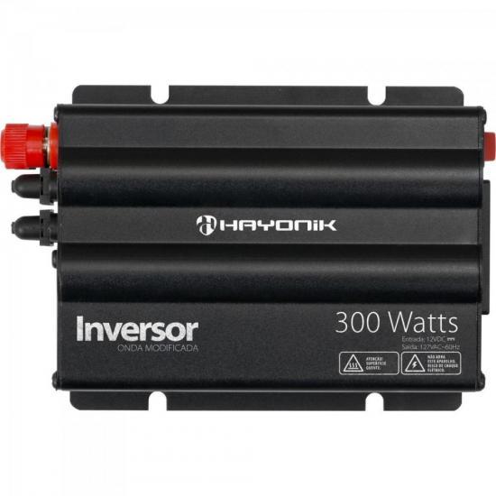 Inversor 300W 12VDC/127V Onda Modificada Cinza Escuro HAYONIK