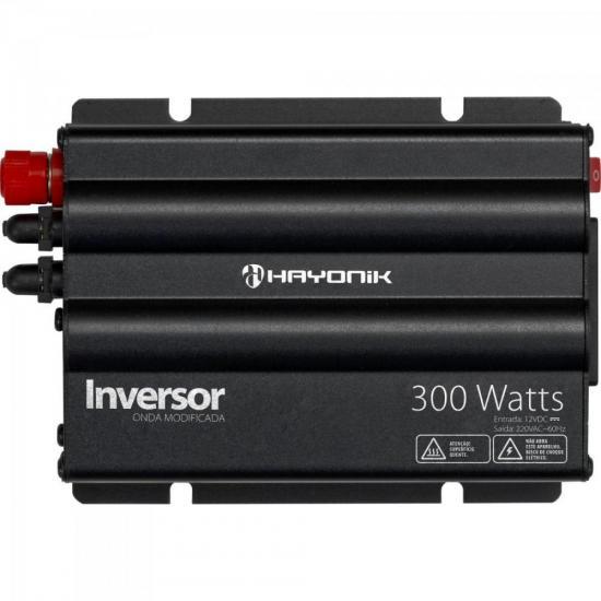 Inversor 300W 12VDC/220V Onda Modificada Cinza Escuro HAYONIK