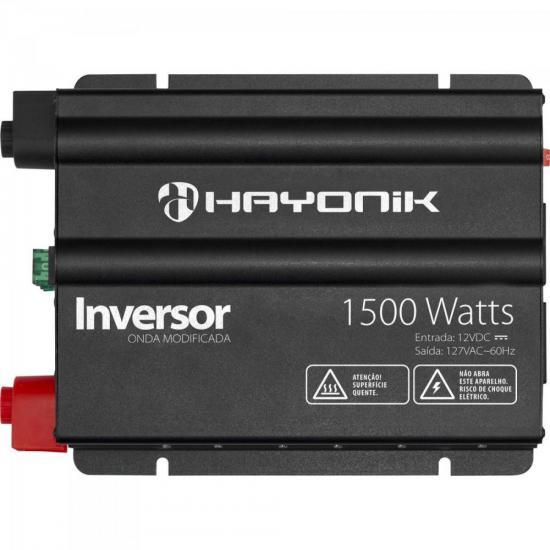 Inversor 1500W 12VDC/127V Onda Modificada Cinza Escuro HAYONIK