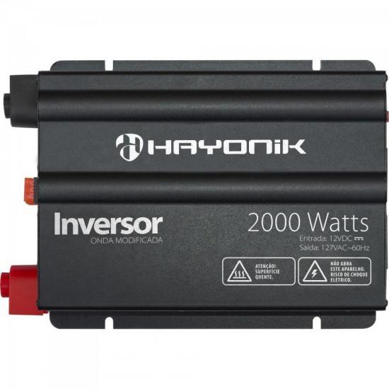 Inversor 2000W 12VDC/127V Onda Modificada Cinza Escuro HAYONIK