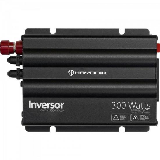Inversor 300W 24VDC/127V Onda Modificada Cinza Escuro HAYONIK