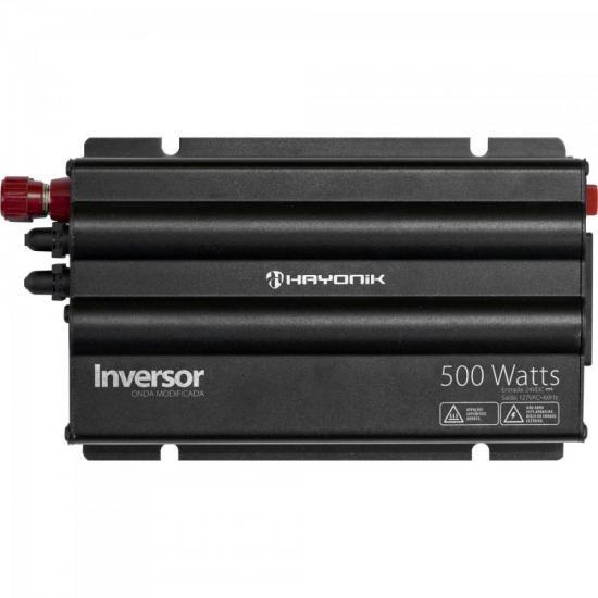 Inversor 500W 24VDC/127V Onda Modificada Cinza Escuro HAYONIK