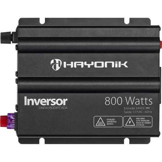 Inversor 800W 24VDC/127V Onda Modificada Cinza Escuro HAYONIK