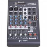 Mesa de Som 4 Canais Stereo Starmix XMS402R Cinza LL AUDIO