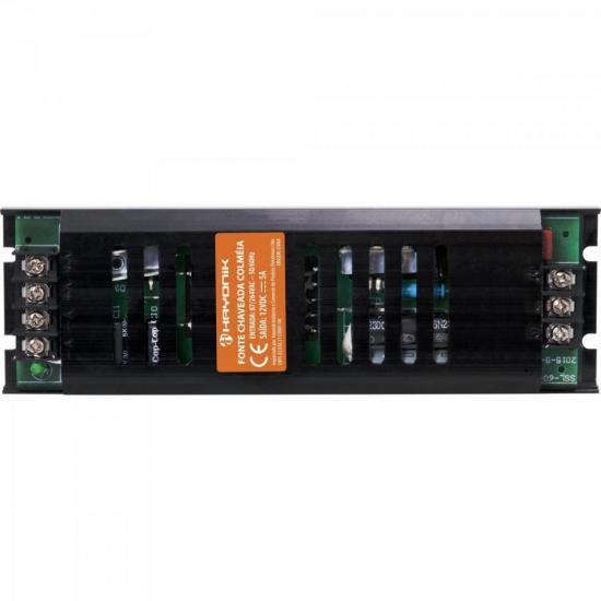 Fonte Colmeia 12VDC 5A 60W Bivolt Automatica FTC1205S HAYONIK