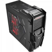 Gabinete Gamer Mid Tower MECHATRON WINDOW BLACK STEEL EDITION EN57028 Preto AEROCOOL