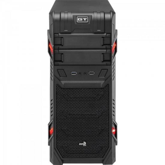 Gabinete Gamer Mid Tower GT ADVANCE 3.0 WINDOW Preto AEROCOOL