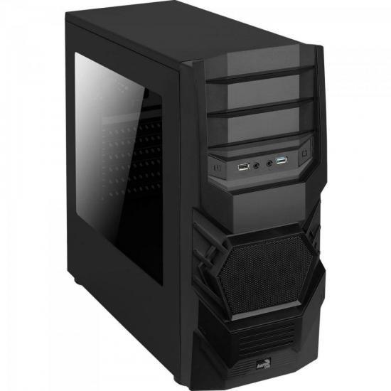 Gabinete Gamer Mid Tower 3.0 CYCLOPS BLACK EDITION Preto AEROCOOL