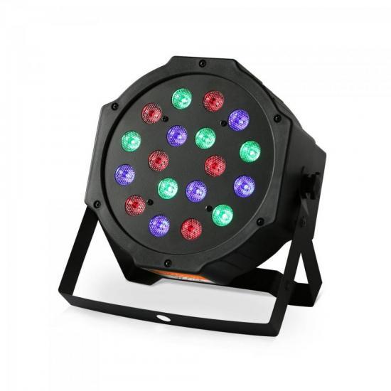 Refletor 18 LEDs 7 Canais DMX512 PAR LED RPL 218 Preto HAYONIK