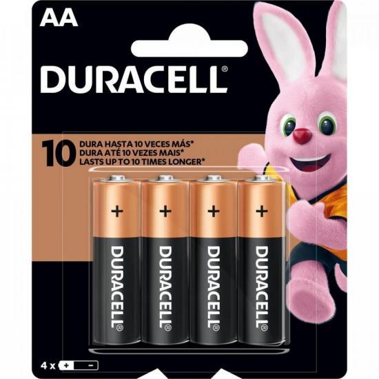 Pilha Alcalina AA MN1500 Duracell Caixa c/48 pilhas (cartela c/4)