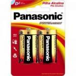 Pilha Alcalina D LR20XAB-2B Panasonic cartela c/2 pilhas