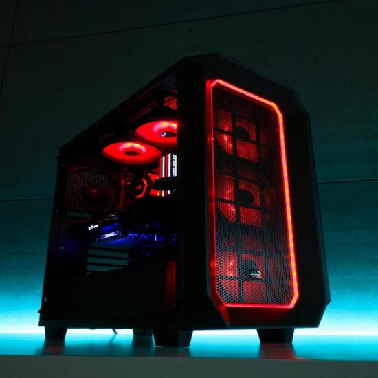 Gabinete Mid Tower c/ LED RGB P7-C0 Preto AEROCOOL