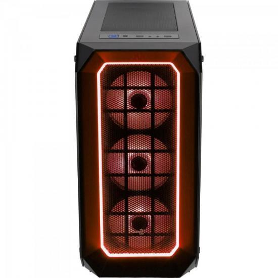 Gabinete Mid Tower c/ LED RGB P7-C0 PRO Preto AEROCOOL