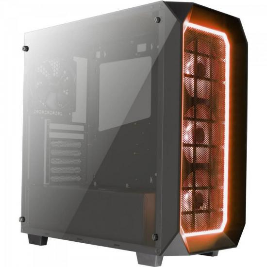 Gabinete Mid Tower com LED RGB P7-C0 PRO Preto AEROCOOL