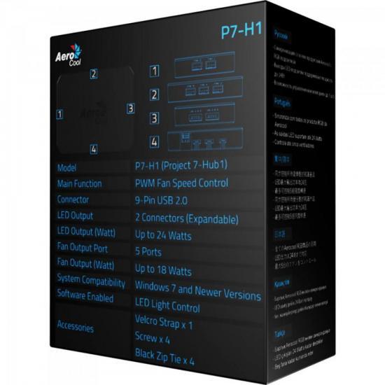 Controlador RGB P7-H1 Preto AEROCOOL
