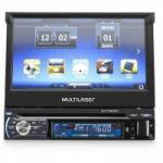 "DVD GPS Retratil 7"" Bluetooth c/ Tv Digital EXTREME Preto MULTILASER"
