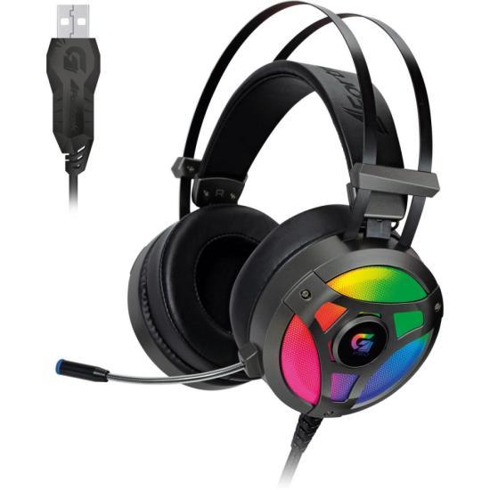 Headset Gamer RGB G Pro H1+ 7.1 Cinza FORTREK