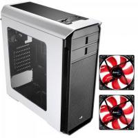 KIT 1 Gabinete Gamer AERO-500 WINDOW Branco AEROCOOL + 2 Coolers Fan
