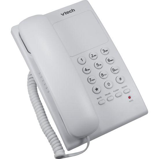 Telefone Digital de Mesa c/ Fio VTC105W Branco VTECH