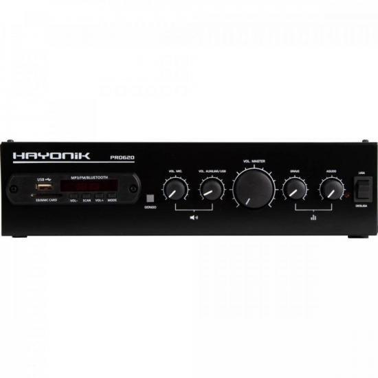 Amplificador 100WRMS c/ Bluetooth VERSÁTIL PRO-620 HAYONIK