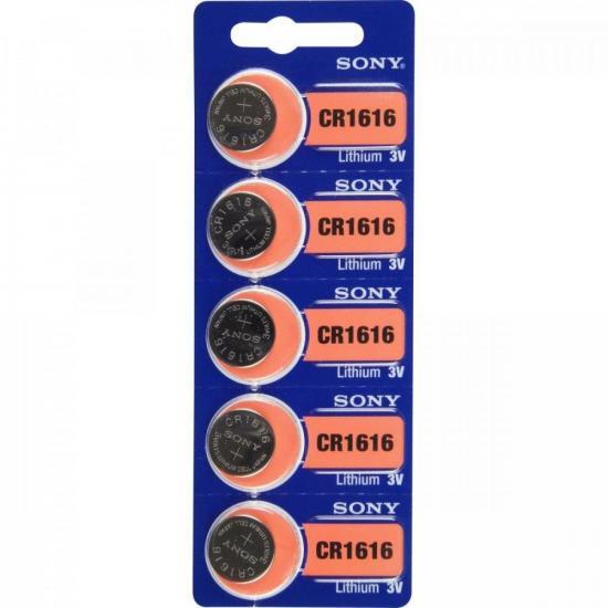 Pilha Lithium CR1616 B Sony cartela c/5 pilha