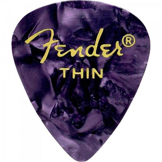 Palheta Celulóide Shape Classic 351 Thin Roxa Shell FENDER