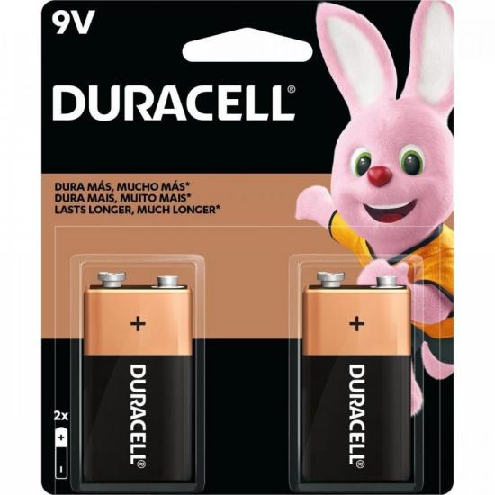 Bateria 9V Alcalina Duracell Caixa c/24 baterias (cartela c/2)