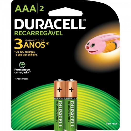 Pilha Recarregavel AAA 750mah Duracell Caixa c/12 pilhas (cartela c/2)