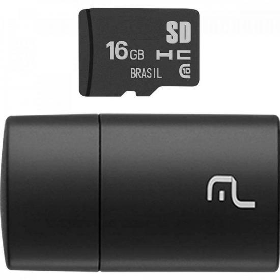 Leitor USB com Cartão SD 16GB MULTILASER