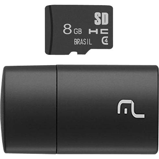 Leitor USB com Cartao SD 8GB MULTILASER