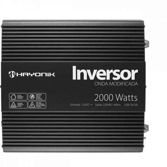 Inversor de Onda Modificada 2000W 12VDC/220V PW11-5 HAYONIK