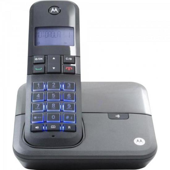 Telefone sem Fio Digital com Identificador de Chamadas, Viva - Voz MOTO4000 Preto MOTOROLA
