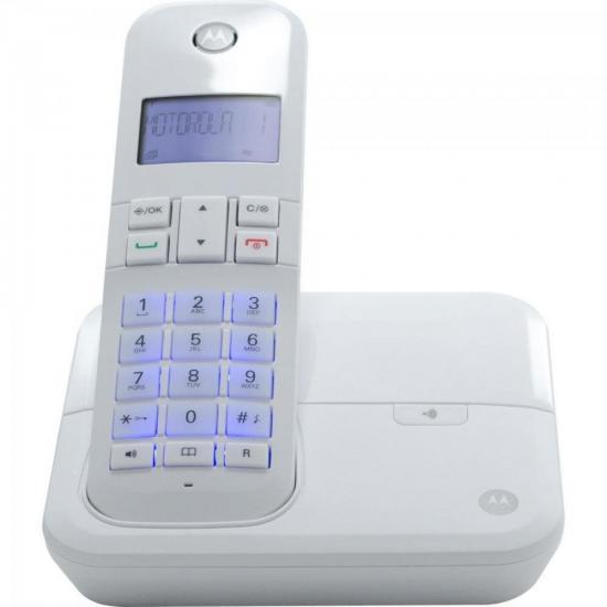 Telefone sem Fio Digital com Identificador de Chamadas, Viva-Voz MOTO4000W Branco MOTOROLA