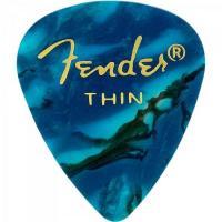 Palheta Celulóide Shape Premium 351 Thin Ocean Turquoise FENDER
