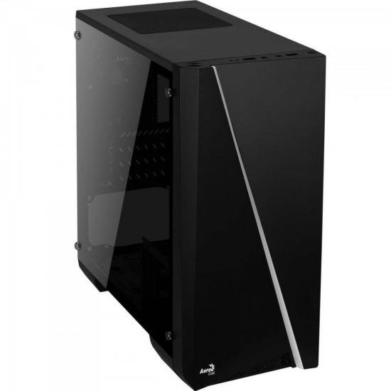 Gabinete Gamer Mini Tower RGB Mini Cylon Preto AEROCOOL