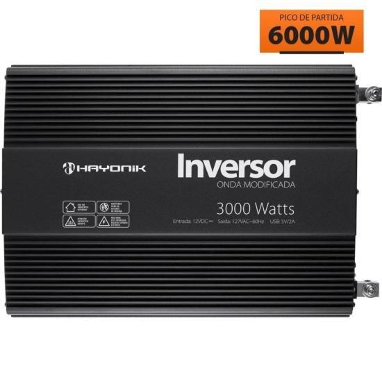 Inversor de Onda Modificada 3000W 12VDC/127V PW12-1 HAYONIK
