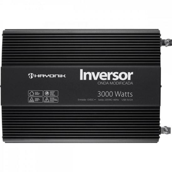 Inversor de Onda Modificada 3000W 12VDC/220V PW12-2 HAYONIK