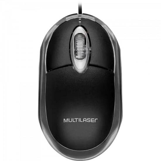 Mouse Óptico USB MO007 Preto MULTILASER