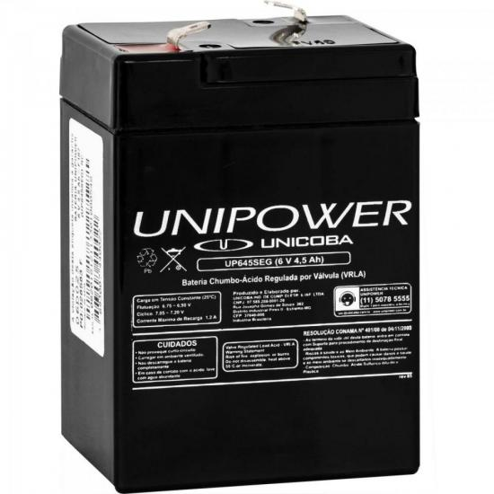 Bateria Selada 6V/4,5Ah UP645SEG UNIPOWER